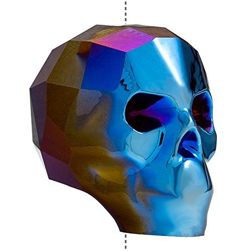 Totenkopf Swarovski 5750Kristall Bead (19mm) Metallic Blau