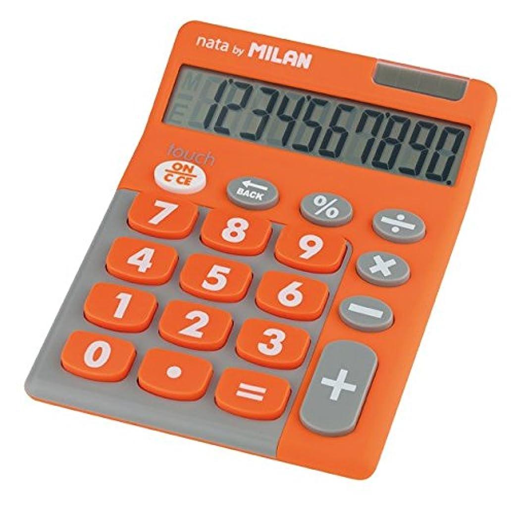 包括的左実現可能MILAN カリキュレーター 10桁 ラバータッチ電卓 150610TD オレンジ