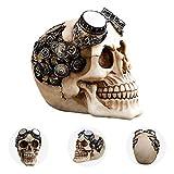 Shirylzee - Figura Decorativa de Calavera de Resina Artificial para decoración del hogar, Bar, Fiesta, Regalo Creativo para Halloween, Steampunk Skull Goggles