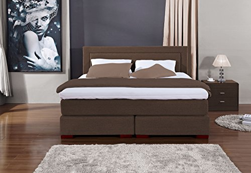 Möbelisten | Boxspringbed Los Angeles in premium uitvoering | 7-zones matras | Thermo-elastische Visco Topper | Luxe bed | Hotelbed | Hotelbed | Tweepersoonsbed | H2 Hardheid | Alle maten | Made in Germany 180x200cm bruin