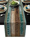 QAZQAZ Follow You Dreams Camino de mesa rústico de madera vintage para el hogar, comedor, decoración de mesa, mantel, boda, Navidad, fiesta, caminos de mesa, 33 x 274 cm