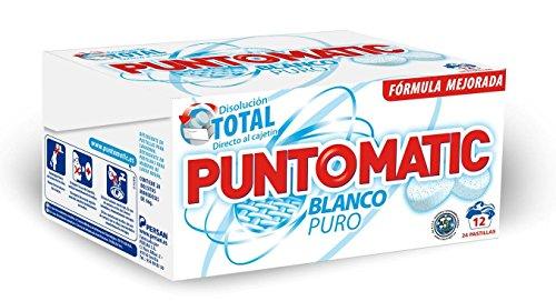 Puntomatic Detergente en Pastilla Ropa Blanca - 12 Lavados