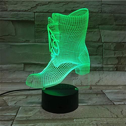 3D nachtlampje cowboylaarzen nachtlampje optisch illusie 3D/bedlampje voor kinder/binnenverlichting/tafel- en nachttafellampje/kindergeschenk Afstandsbediening.