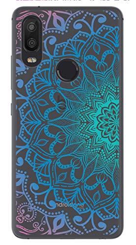 Tumundosmartphone Funda Gel Transparente para BQ AQUARIS X2 / X2 Pro diseño Mandala Dibujos