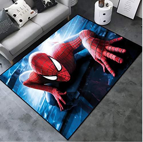juan Area Soggiorno Gioco per Bambini Tappeto Strisciante Cartone Animato Camera da Letto per Bambini Gioco Tappeto Decorazione Camera Tappetino di Grandi Dimensioni Anime Spiderman 80 Cm * 120 Cm