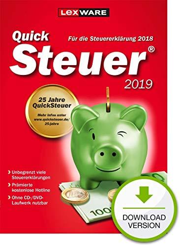Lexware QuickSteuer 2019 Download für das Steuerjahr 2018|Einfache und schnelle Steuererklärungs-Software für Arbeitnehmer, Familien, Vermieter, Studenten und Rentner
