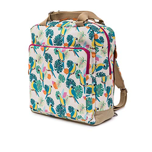 Pink Lining Wickelrucksack Wickeltasche Wonder Bag Parrot Cream
