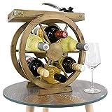 Wooden Wine Rack & Glass Holder Cabinet Natural Wood Wine Display Storage (Tray on Wine Rack)