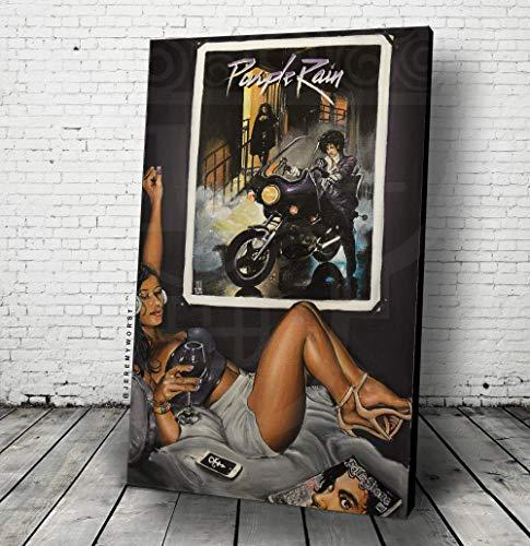 "JEREMY WORST""Purple Rain"" | Movie Poster Canvas Wall Art Painting | Quote Sexy Acrylic Wine Glass Whiskey liquor Album cover vinyl Decor cd sexy woman Gift singer Legend legacy memory Original"