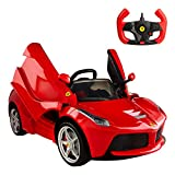 rastar- Coche batería RC Ferrari LaFerrari de 12V, 2.4G (Color Baby 85242)