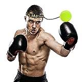 Ducomi Pelota de boxeo reflectante, 3 niveles de desficuldad