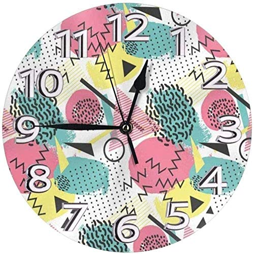 youmengying Co.,ltd Relojes De Pared Funky Reloj De Pared Redondo Modelos 90S Reloj De PVC Reloj Silencioso Reloj De Pared Circular Decorativo