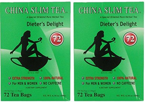 China Slim Dieters Tea Delight, Large, 72-Count (Pack of 2, 144 tea bags total)