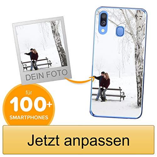 Coverpersonalizzate.it Handyhülle für Samsung Galaxy A40 mit Foto-, Bildern- oder Text selbst gestalten- Die Handyhülle ist aus weichem transparentem TPU-Silikon-Gel Material