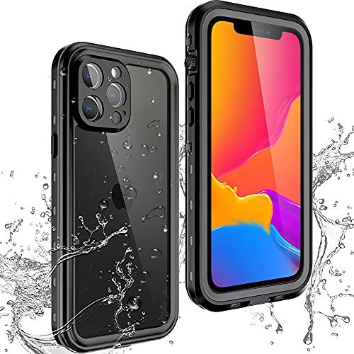 FHZXHY - Custodia impermeabile per iPhone 13 Pro Max con pellicola protettiva integrata per immersioni subacquee subacquee, custodia sigillata per iPhone 13 pro max 5g 7.7' 2021, colore: Nero