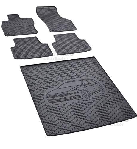 Passende Gummimatten und Kofferraumwanne Set geeignet für VW Passat Variant ab 2014 + Gurtschoner