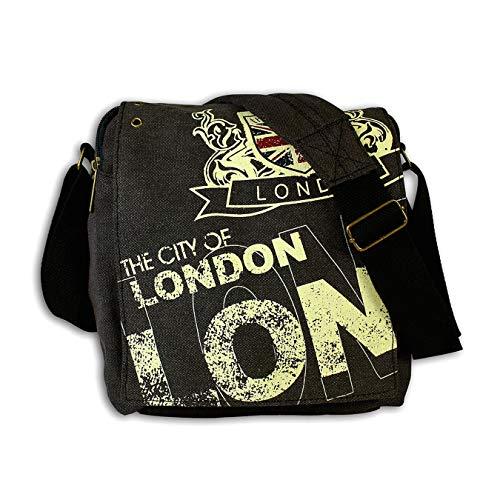 London Canvas-Umhängetasche schwarz Mehrfarbig City Wappen D1OTG202S