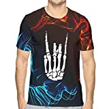 Rockroll -Skeleton Hand T-Shirt à Manches Courtes pour Hommes Tops d'impression 3DFitness Jeunesse Mode Tee-Shirts