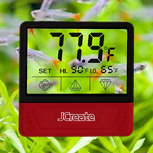 capetsma Fish Tank Thermometer, Touch Screen Digital Aquarium Thermometer with LCD Display, Stick-on Temperature Sensor ensures Optimum Temperature in Terrarium, for Your pet Amphibians and Reptiles…