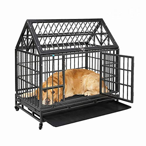 COZIWOW Heavy-Duty Large Dog Kennel Cage Crate