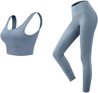 XFKLJ Sports Bra Yoga Pants Exercise Yoga Set Sports Bra and Leggings Jogging Women Gym Set Clothes 2-Piece Set Yoga Sport...