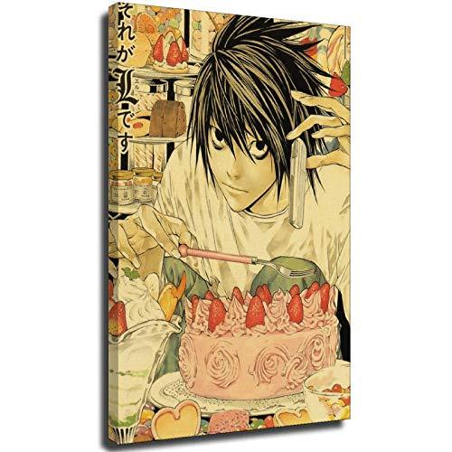 sayup Classic Anime Series Death Note Posters Retro Poster Bar Room Decoración Pintura Arte Pared Pegatina Imagen Unframe-style1 28 × 40 pulgadas (70 × 100 cm)