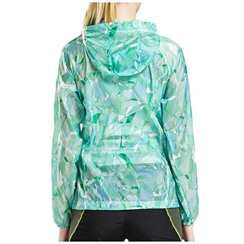 Women's Camouflage Long Sleeve Running Top Sport Shirts UPF 50+ UV Sun Protection Outdoor Zip Pullover Tops Ladies Lightweight UV Protection Shirts Outdoor Sun Protect Hiking T Shirts