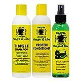 Jamaican Mango & Lime Tingle Shampoo & Protein Conditioner 8 oz + Sproil Oil 6 oz(Set)