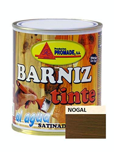 PROMADE - Barniz tinte satinado agua 750 ml Nogal