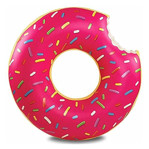 DUNLIN Summer Actividades Al Aire Libre Inflable Donut Natación Piscina Piscina Boyal Colchón Espesado PVC PVC Toy Ring Toy (Color : Pink 60mm)