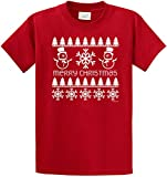 Joe's USA(tm Merry Christmas Snowman Shirt - Red T-Shirt