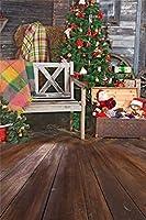 Qinunipoto クリスマス 写真 背景布 撮影用 背景 冬 写真撮影用小道具 背景シート クリスマス小物 写真館 撮影スタジオ用 自宅用 撮影用クリスマス背景布パーティー クリスマス用背景 ビニール製 2.5x3.5m