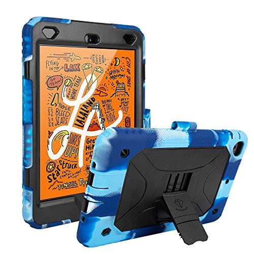 iPad Mini 5 Case iPad Mini 4 Kids Case Shockproof Premium Soft Silicone Cover Upgraded Version with Adjustable Kickstand (Navy Black)