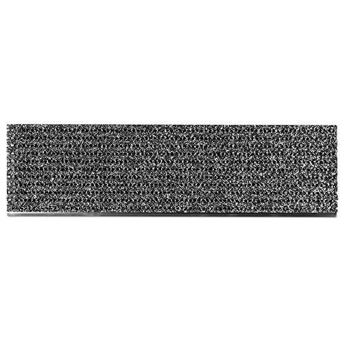 etm Stufenmatten außen | Treppen Rutschschutz mit Alu-Schiene | Antirutschmatten mit patentierter PVC-Granulat-Schicht | 2 Farben & Größen (anthrazit, 24 x 80 cm)