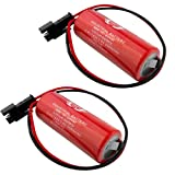 2Pcs Replacements for FUJI FDK CR8.LHC 17430 3V Lithium Battery for PLC backup power W/Plug