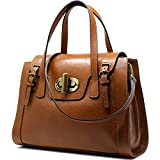 Floto Tavani Women's Handbag Leather Bag (Full Grain Brown)