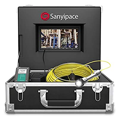Sewer Inspection Camera, Waterproof IP68 Snake Cam with DVR Video Pipeline Pipe Inspection Equipment 7 inch LCD Monitor Duct HVAC 1000TVL Drain Plumbing Camera - 20M/65FT