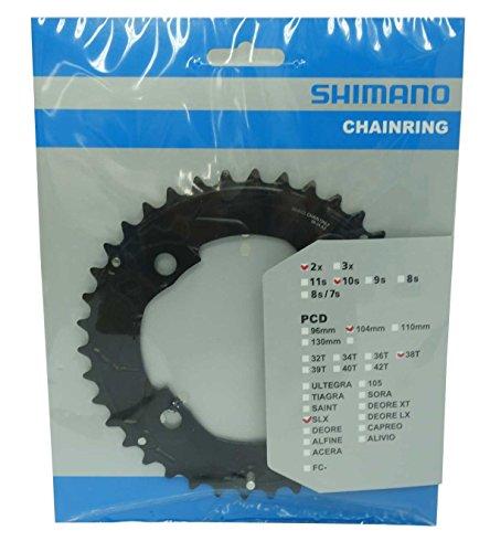 SHIMANO SLX FC-M677 Kettenblatt 10-Fach schwarz Ausführung 38T 2020 Kettenblätter