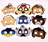 Lion King inspired masks set of 9 for Birthdays, Halloween Costumes, Party Supplies, Games and More - Comfortable, One-Size-Fits-Most Design - Premium Quality Eco-Felt and Fleece