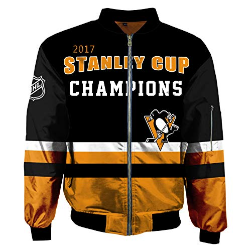 ZGRNB Hockey Trikot Herren Fleece Hoodie Winter Baumwolle Sweatshirt Jacken NHL Canadiens de Montréal Washington Capitals Pittsburgh Penguins Reiß Verschluss Coats Outwear