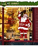 Wandaufkleber Frohe Weihnachten Santa Navidad Glastür Aufkleber новыйгод Dekoration Zubehör Kinderküche Geschenk