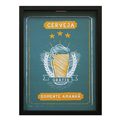 Print Porta Tampinhas Cerveja Gratis Amanha Kapos Preto 28X38cm