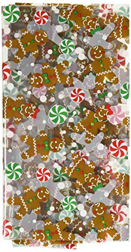 Gingerbread Christmas Multicolored Cookie Tray Bags, 6 Ct.   Party Supply