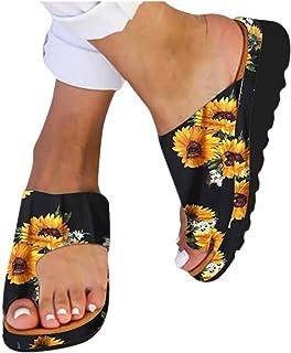 Platform Sandals for Women- 2019 New Comfort Flip Flops Wedge Shoes Flats Beach Casual Slippers
