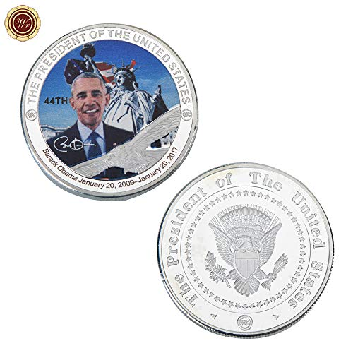 LSJTZ United States, President, 1-45, Silver-Plated, Commemorative Coins, Washington, Trump, Collection, Beautiful, Boxed, Beautiful, Meaning,45pcs