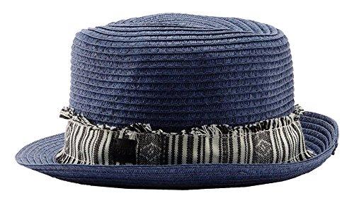 Edc by Esprit 046CA2P002-Straw Hat Panamas, Bleu - Blau (Blue 430), Large Homme