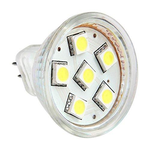 12vmonster AC DC 12V 24V 1,5W Kühles Weiß 6x 5050Cluster LED Leuchtmittel MR11GU4Bi Pin Lampe