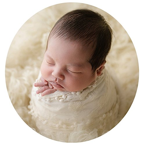 Zeroest Baby Photography Props Blanket Newborn Photo Shoot Outfits Infant Photos Lace Wrap (Green)