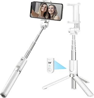 Selfie Stick Bluetooth,WQQ Wireless Selfie Stick Tripod with Remote,Portable Extendable Monopod for iphoneXs/Xs Max/X /8 Plus/8/7Plus/7/6Plus/6/Android/Galaxy S9 Plus/S9/Note8/S8 Plus/S8 (White)