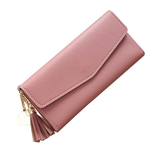 Espeedy vrouwen lange portemonnee kwastjes koppeling veranderen munt portemonnee Hasp kaarten houder zak